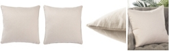 """Jaipur Living Rollins Solid Cream Down Throw Pillow 22"""""""