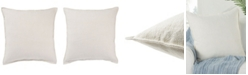 """Jaipur Living Blanche Solid Ivory Poly Throw Pillow 22"""""""