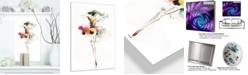 "Design Art Designart 'Beautiful Fashion Girl' Portrait Metal Artwork Print - 12"" X 20"""