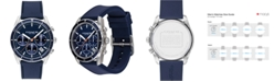 COACH Men's Thompson Navy Leather Strap Watch 41mm
