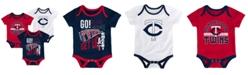 Outerstuff Baby Minnesota Twins Newest Rookie 3 Piece Bodysuit Set