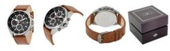 Joseph Abboud Men's Analog Leather Watch