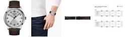 Tissot Men's Swiss Gent XL Brown Leather Strap Watch 42mm