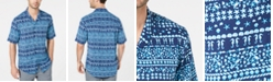 Club Room Men's Reef Fair Isle Camp Collar Shirt, Created for Macy's