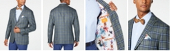 Tallia Men's Slim-Fit Navy/Green Plaid Sport Coat