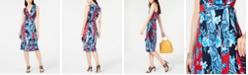 INC International Concepts I.N.C. Sleeveless Wrap Midi Dress, Created for Macy's