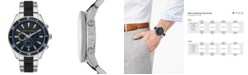A X Armani Exchange Men's Chronograph Enzo Two-Tone Stainless Steel & Silicone Bracelet Watch 46mm