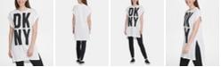 DKNY Logo-Graphic Logo Tunic