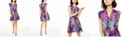 Bar III Snake-Print Surplice Dress, Created for Macy's