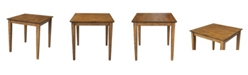 """WHITEWOOD INDUSTRIES/INTNL CONCEPTS International Concepts Solid Wood Top Table - 30"""" High"""