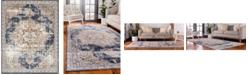 Bridgeport Home Odette Ode1 Dark Blue 8' x 10' Area Rug