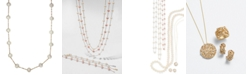 """EFFY Collection EFFY® Cultured Freshwater Pearl Station 18"""" Necklace in 14k Gold (5-1/2mm)"""