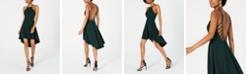 B Darlin Juniors' Laddered Open-Back High-Low Dress