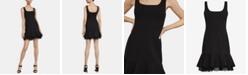 BCBGMAXAZRIA Crepe Fit & Flare Dress