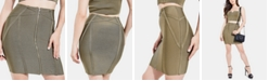 GUESS Mirage Zip-Front Bandage Skirt