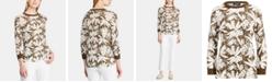 Lauren Ralph Lauren Petite Botanical-Print Sweater
