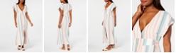 Roxy Juniors' Striped Button-Down Maxi Dress