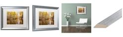 "Trademark Global Jason Shaffer 'Beaver Creek 3' Matted Framed Art - 20"" x 16"""