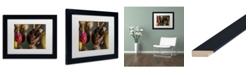 "Trademark Global Jason Shaffer 'Hornets' Matted Framed Art - 14"" x 11"""