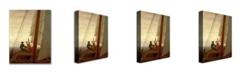 "Trademark Global Caspar David Friedrich 'On Board a Sailing Ship' Canvas Art - 24"" x 18"""