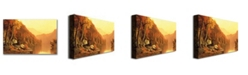 "Trademark Global Jervis McEntee 'Shawanagunk Mountains Autumn' Canvas Art - 24"" x 14"""