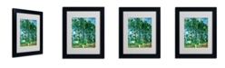 "Trademark Global Paul Cezanne 'The Aqueduct' Matted Framed Art - 14"" x 11"""
