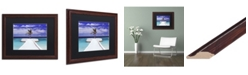 "Trademark Global David Evans 'Breakwater-Jumeirah Vittaveli' Matted Framed Art - 16"" x 20"""