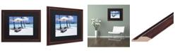 "Trademark Global David Evans 'The Easy Life' Matted Framed Art - 16"" x 20"""