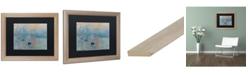 "Trademark Global Claude Monet 'Impression Sunrise' Matted Framed Art - 16"" x 20"""