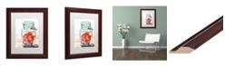 """Trademark Global Jennifer Redstreake 'Ball Jar Ideal Peppers' Matted Framed Art - 11"""" x 14"""""""