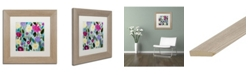 """Trademark Global Carrie Schmitt 'Tranquility Blooms' Matted Framed Art - 11"""" x 11"""""""
