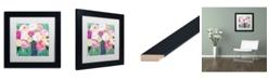 """Trademark Global Carrie Schmitt 'Botanical Splash' Matted Framed Art - 11"""" x 11"""""""