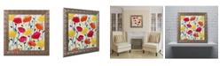 "Trademark Global Carrie Schmitt 'Cheerful Poppies' Ornate Framed Art - 11"" x 11"""