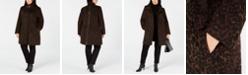 Via Spiga Plus Size Leopard-Print Coat