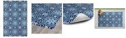 """Kaleen Matira MAT02-17 Blue 5' x 7'6"""" Area Rug"""