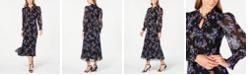 Calvin Klein Floral Chiffon Maxi Dress