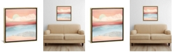 """iCanvas Mint Moon Beach by Spacefrog Designs Gallery-Wrapped Canvas Print - 26"""" x 26"""" x 0.75"""""""