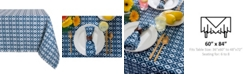 "Design Imports Ikat Outdoor Tablecloth 60"" x 84"""