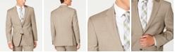 Tommy Hilfiger Men's Modern-Fit THFlex Stretch Tan Sharkskin Suit Separate Jacket