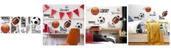 York Wallcoverings All Star Sports Saying Peel and Stick Wall Decals
