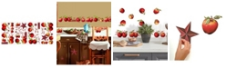York Wallcoverings Country Apples Peel and Stick Wall Decals