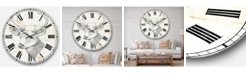 Designart Wildlife Animal Oversized Metal Wall Clock