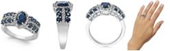 Macy's Sapphire (2-1/5 ct. t.w.) & Diamond (1/4 ct. t.w.) Ring in 14k White Gold
