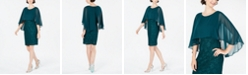 Connected Petite Cape-Overlay Dress