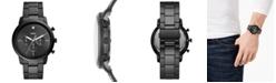 Fossil Men's Chronograph Neutra Diamond-Accent Black Stainless Steel Bracelet Watch 44mm