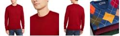 Club Room Men's Solid Merino Wool Crew Neck Sweater, Created for Macy's