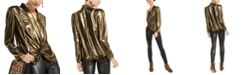 INC International Concepts INC Shine Twist-Front Top, Created For Macy's