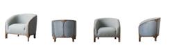 Burnham Home Designs Griffey Linen Upholstered Sofa