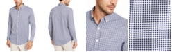 Club Room Men's Regular-Fit Performance Stretch Gingham Check Shirt, Created For Macy's