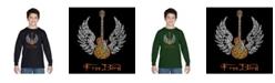LA Pop Art Boy's Word Art Long Sleeve T-Shirt - Lyrics To Freebird